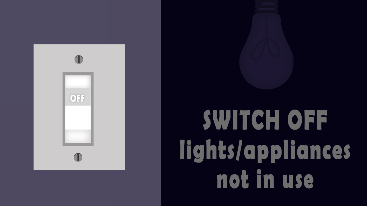 Switch Off lights&appliances not in use