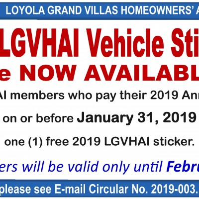 2019 LGVHAI Vehicle Stickers